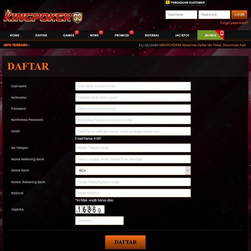 form daftar kingpoker99